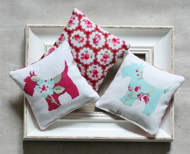 2 x Lavender Bags with Scottie Dog Design