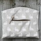 White Rabbit Print Clothes Peg Bag
