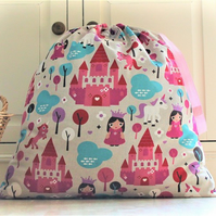 Pink Princess and Unicorn Toy Bag Laundry Bag