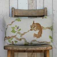 Red Squirrel Cushion - Oblong