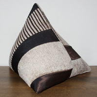 Brown Satin Stripe Pyramid Door Stop