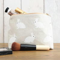 White Rabbit Silhouette Makeup Bag