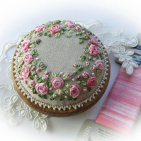 Roses and Pearls Pincushion Kit