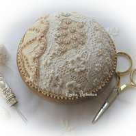 Vintage Lace and Pearls Pincushion KIT.