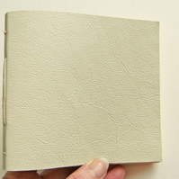 Leather Square Longstitch Journal - Gold & Cream