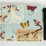 Guest Book Little Butterflies Hand Bound Book