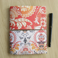 Orange Baroque Notebook Set - Pair of Pocket Notebooks