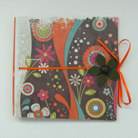 Bright Mini Scrapbook - Funky Nonsense - 6x6 ins, in Warm Colors