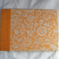 Reserved: Wedding Guest Book, Photo Album - Golden Liberty Print and Silk