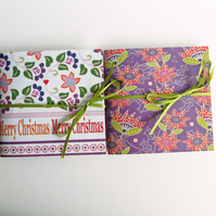 Christmas Notebooks - Merry Christmas Flowers