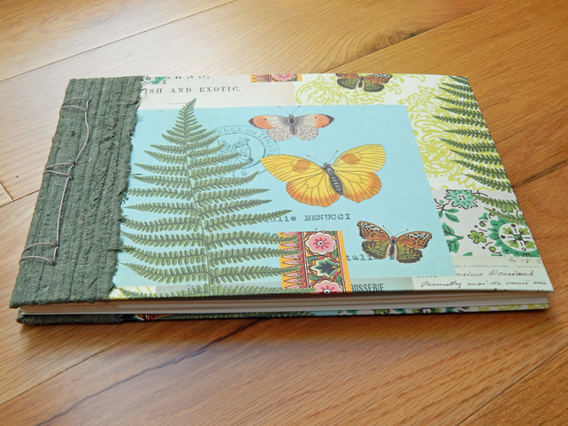 Botanical Album Ferns and Butterflies with Dutch binding
