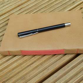 Leather Journal, Golden Brown & Red, Sketchbook, Writers Notebook, Gifts for men