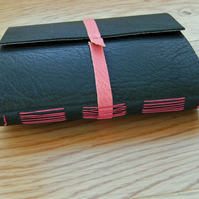 Forest Green Leather Longstitch Journal Notebook