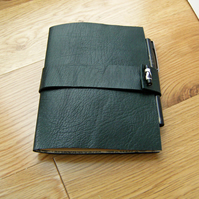 Deep Green Leather Chapbook Journal