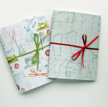 Sewing Bee Notebooks with Ribbon ties