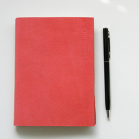 Coral Leather Hand Made Notebook, Sketchbook - Mothers Day
