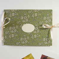 Liberty Photo Album - Capel in Green - Hand Made Photo Book