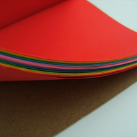 Rainbow A5 Journal Hand Made Notebook - Bright Neon Colours