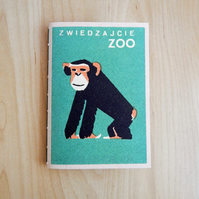 Chimpanzee Notebook, Zoo themed book, Monkey, Chimp - Cheeky monkey, for Boys