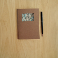 Fox in the Forest Notebook with cream paper and kraft cover.