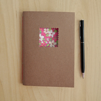 Pink Floral Notebook, hand made notebook with pink flowers, Mother's Day