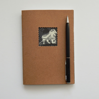 Lion Moleskine style Notebook - 6x4 ins sketchbook journal, Gifts for Men, Teens