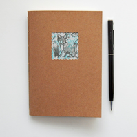 Little Fox Kraft Notebook with Cream paper - 6x4 ins hand bound book