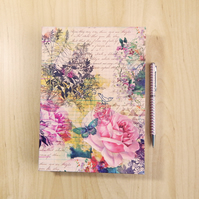 Rainbow Garden Journal with Handmade paper in Rainbow colours, Gifts for Women