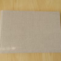 Linen Wedding Album, Guest Book - natural linen - Made To Order