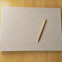 Large Linen Photo Album Wedding Guest Book Natural linen covers. Made to Order.