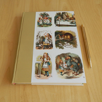 Alice in Wonderland Journal. Hard-cover book. John Tenniel's Alice. For Women