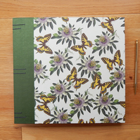 Wedding Album Botanical Butterflies & Passionflowers, Photo Album Wedding Book