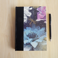 Flowers and Dragonfly Journal or Notebook. Luxury Gifts for Women