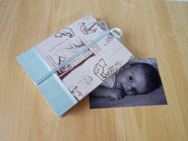 Baby Photo Album, Winnie the Pooh, Christening Gift, New Baby MADE TO ORDER