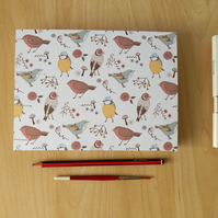 A5 Watercolour Sketchbook with Garden Birds: Gifts for Artists, Mothers Day