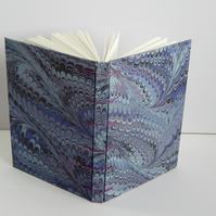 A6 Blue Marbled Journal. Secret Belgian Binding Gifts for Teens Gifts for Geeks.