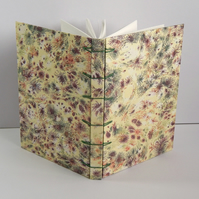 "A6 ""Coral"" Marbled Journal. Secret Belgian Binding. Gifts for women, for geeks."
