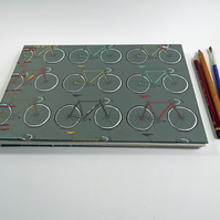 Bicycles Sketchbook Drawing Book - Gifts for Artists, Cycling Gifts