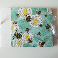 Bees & Daisies A5 Photo Book, Guest Book, Baby Shower, Naming Day, Baptism Book