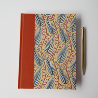 Leaf Journal, A5 with lined pages. Garden Journal. Gifts for Writers.