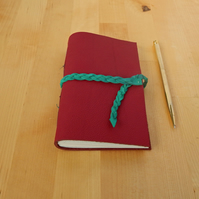 Red Leather Journal, Dotted Pages. Bullet Journal, Notebook, Student Gifts