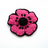 SALE Little Poppy brooch, pink