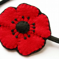 SALE: Poppy Hairband, red
