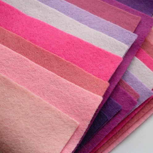 Pinks and Purples, 20 felt squares