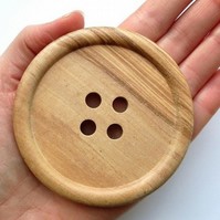 2 x Giant 8cm Wooden Buttons
