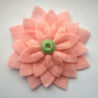SALE Large Felt Flower Brooch