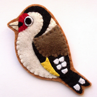 Goldfinch, Felt Bird Brooch