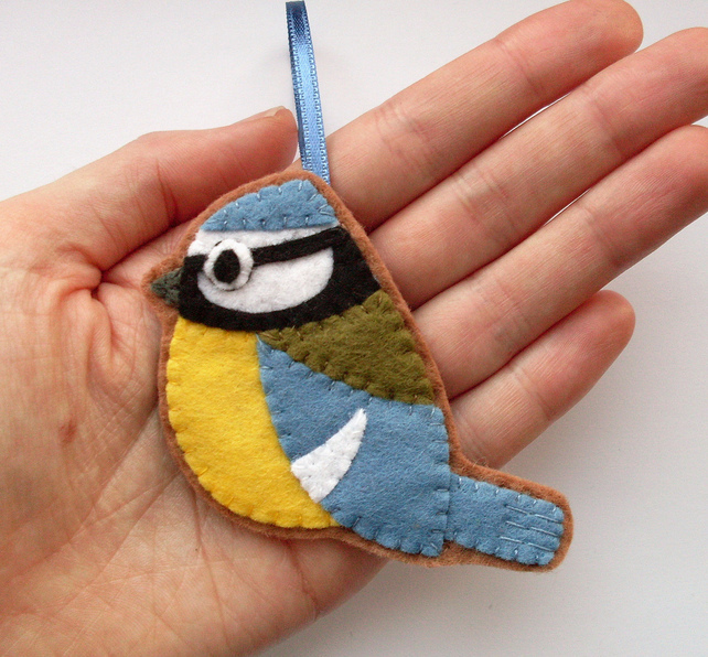 blue tit christmas ornament