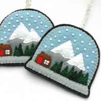 PDF: Snow Globe Christmas Ornament Tutorial & Embroidery Pattern (Digital File)