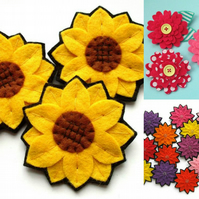 PDF: 3 Felt Flower Tutorials, easy sewing patterns (Digital Files)